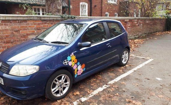 Blue Fiat Punto 2005 Hatchback - Front