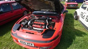 Justin's Mitsubishi GTO at the A47 Auto Jumble