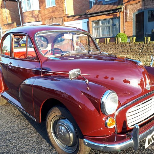Classic Car - Morris Minor 1971 - shined and ready for the Easter Vintage Festival