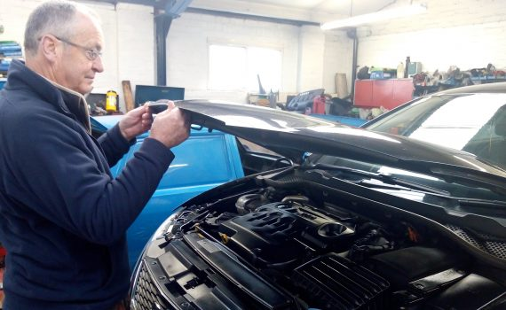 How to check the oil - pop the bonnet to access the engine of your car